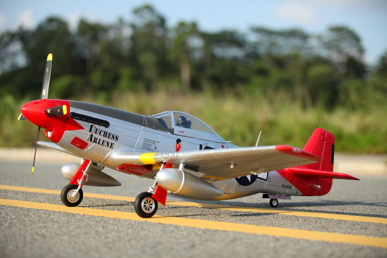 FMS P-51D Mustang V8 Red Tail PNP - 145 cm