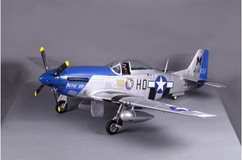 FMS P-51D Mustang V8 Petie 2nd PNP - 145 cm