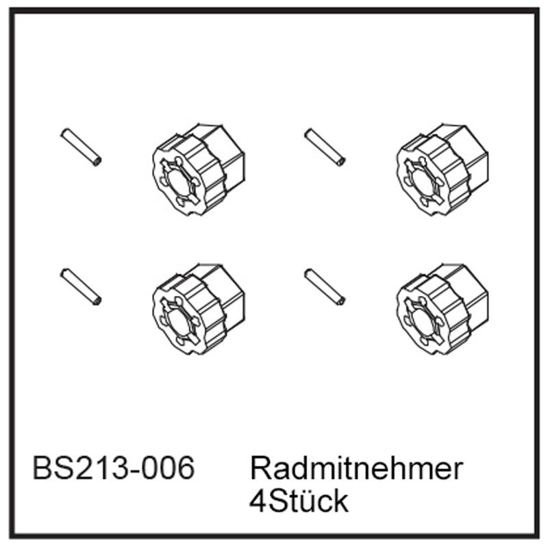 Radmitnehmer (4Stück) - BEAST BX / TX