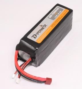 D-Power SD-7000 4S Lipo (14,8V) 45C - T-Stecker