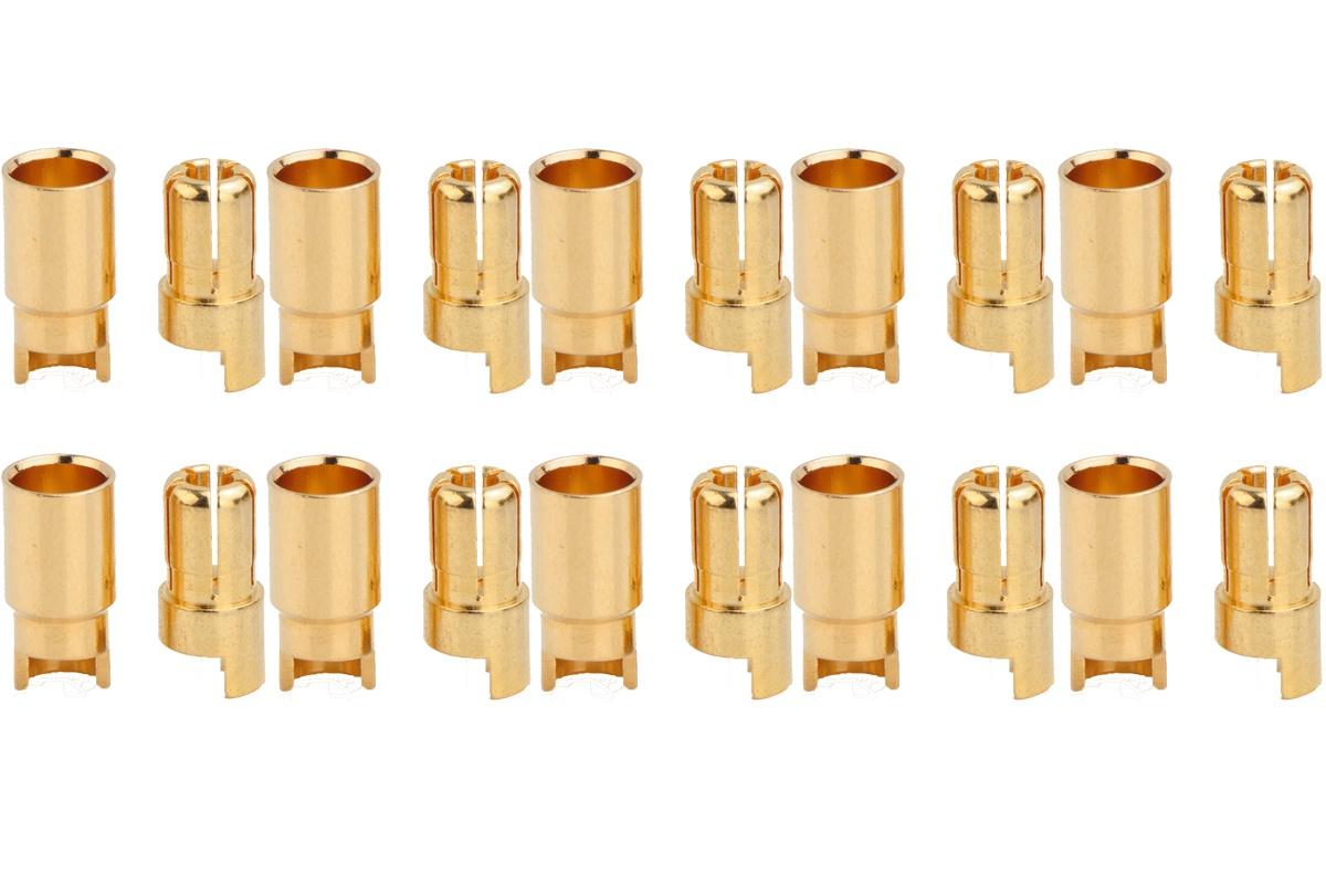 Goldkontakte Ø 6,0 mm - 10 Paar