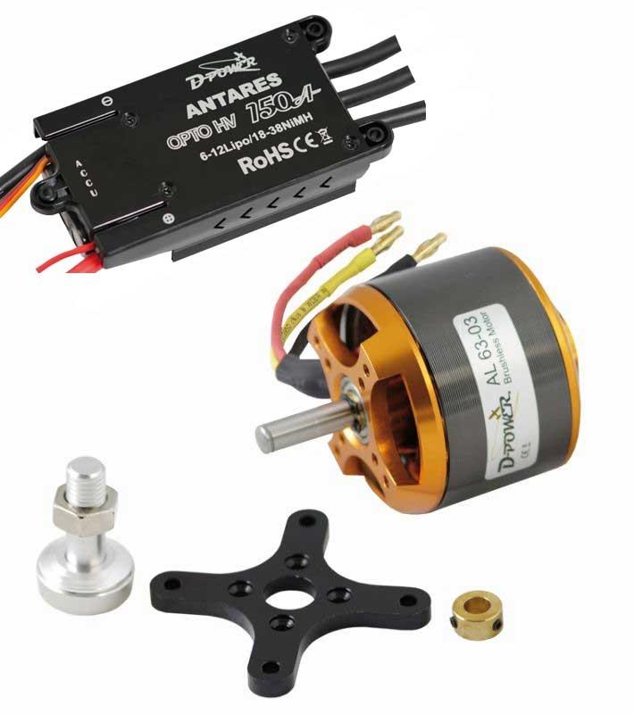 D-Power Brushless SET AL63-03 & 150A HV Opto Antares Regler