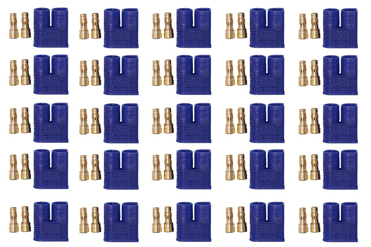 EC3 Hochstromkontakt Stecker blau - 25 St.