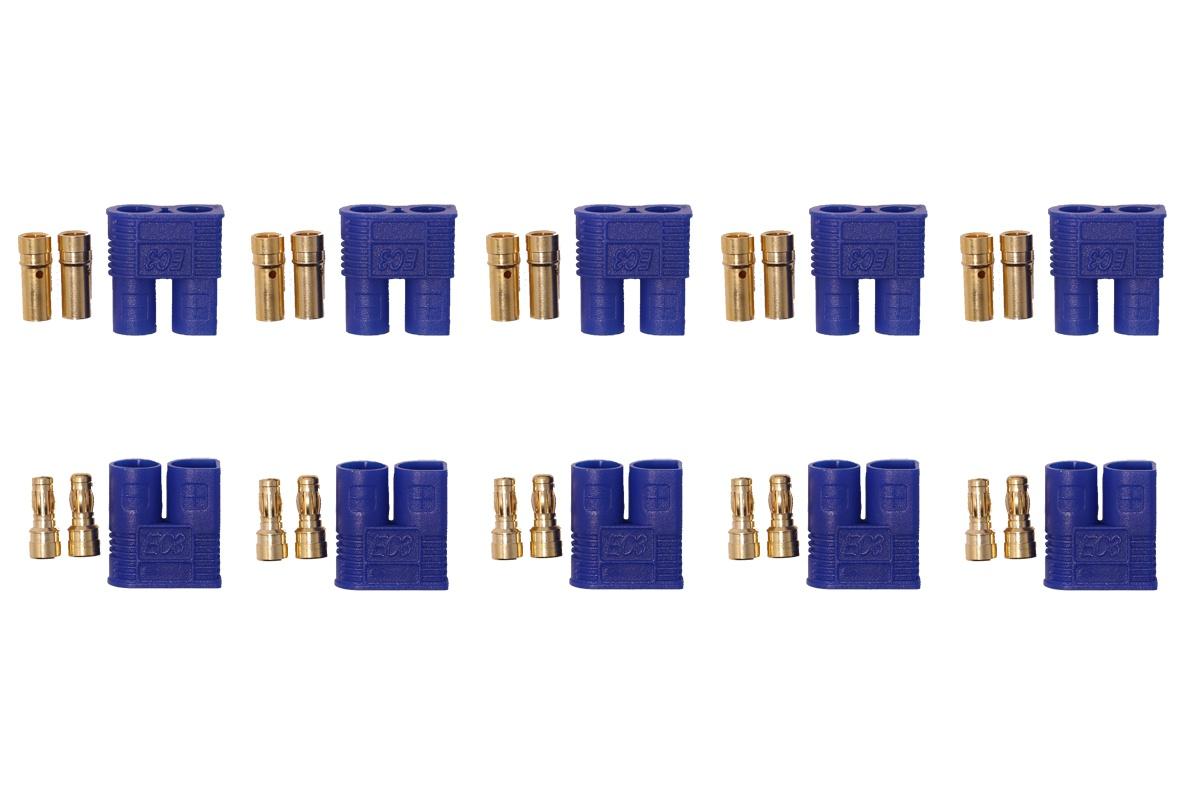 EC3 Hochstromkontakte blau - 5 Paar