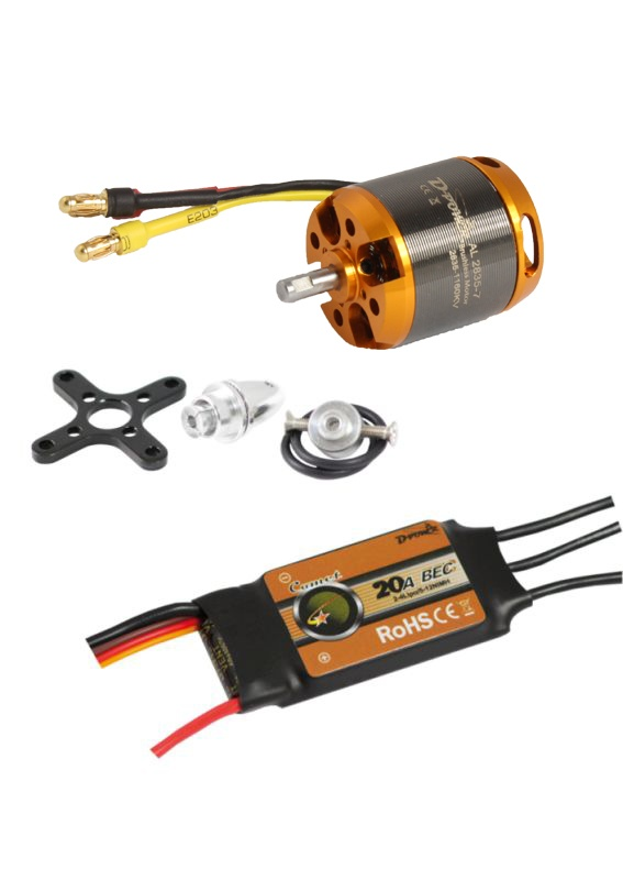 D-Power Brushless Set AL2835-7 & 20A Comet Regler