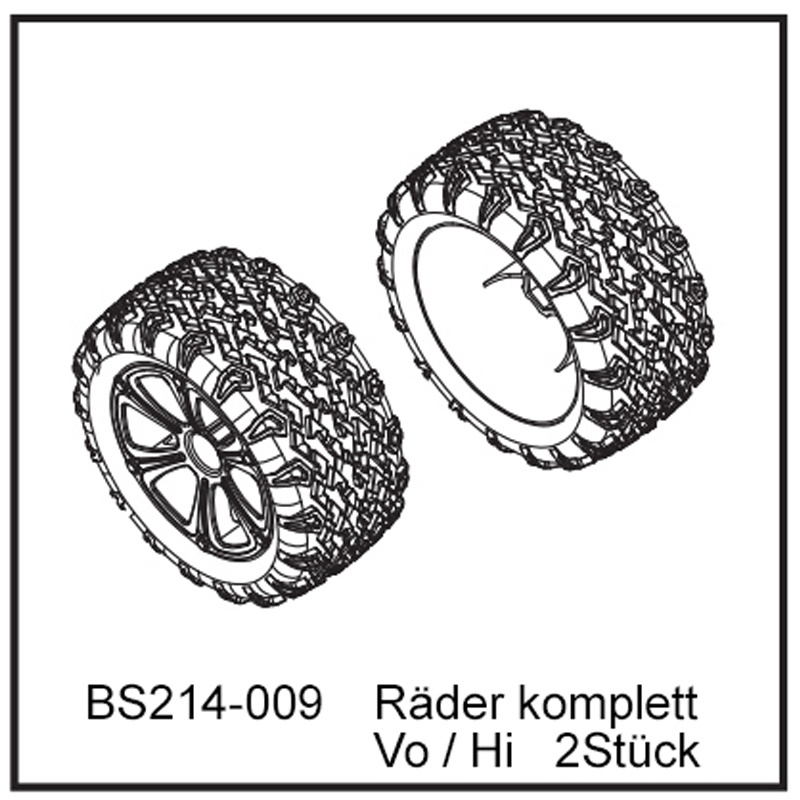 Räder komplett Vo / Hi (2 Stück) - BEAST TX