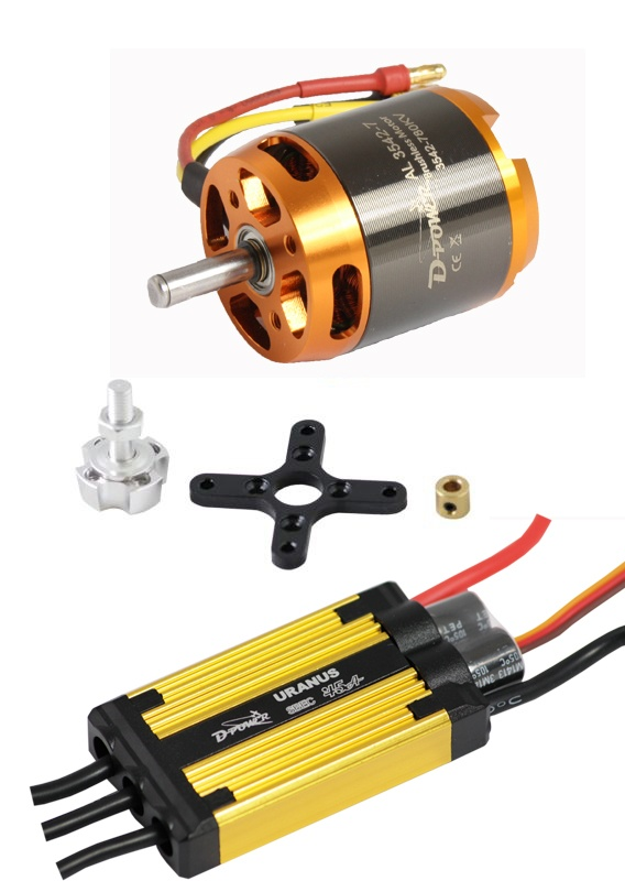 D-Power Brushless Set AL3542-7 & 45A URANUS Regler