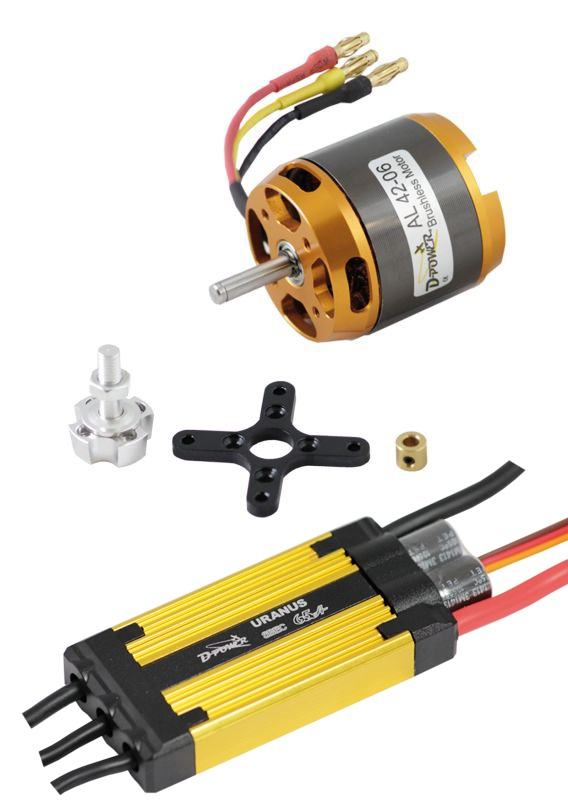 D-Power Brushless Set AL42-06 & 65A URANUS Regler