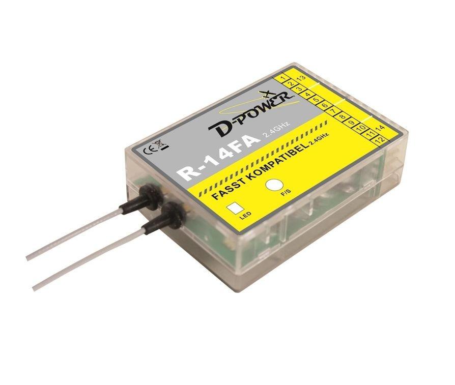 D-Power R- 14FA - 2.4 GHz Empfänger FASST kompatibel