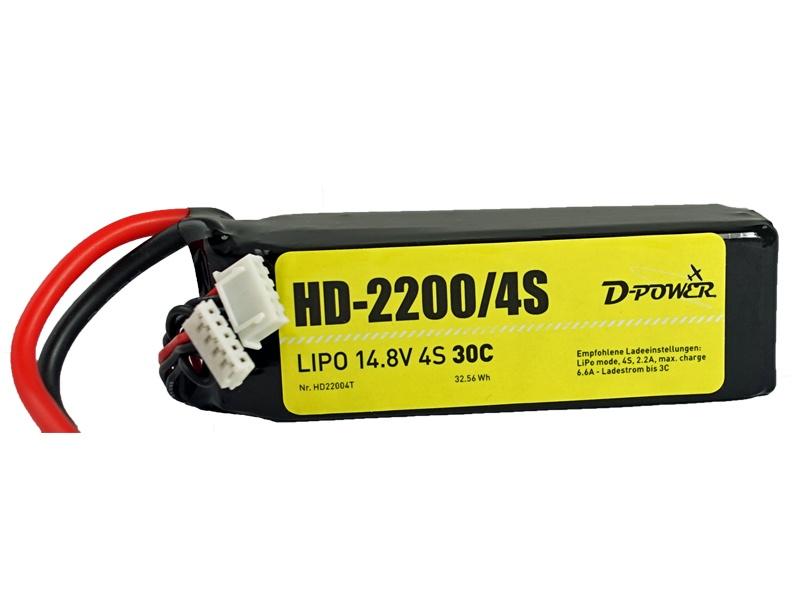 D-Power HD-2200 4S Lipo (14,8V) 30C - XT-60 Stecker