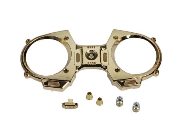 Graupner mz-12 Frontplatte+ Steuerknüppel Goldoptik