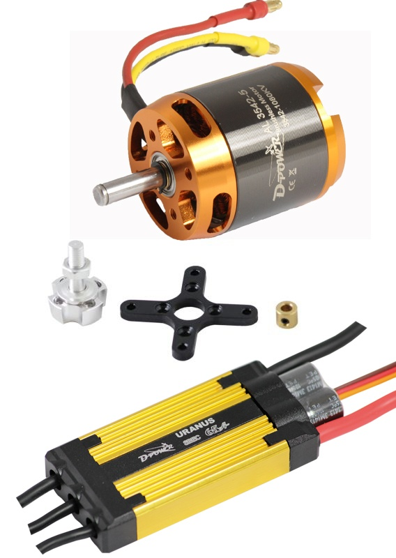 D-Power Brushless Set AL3542-5 & 65A URANUS Regler