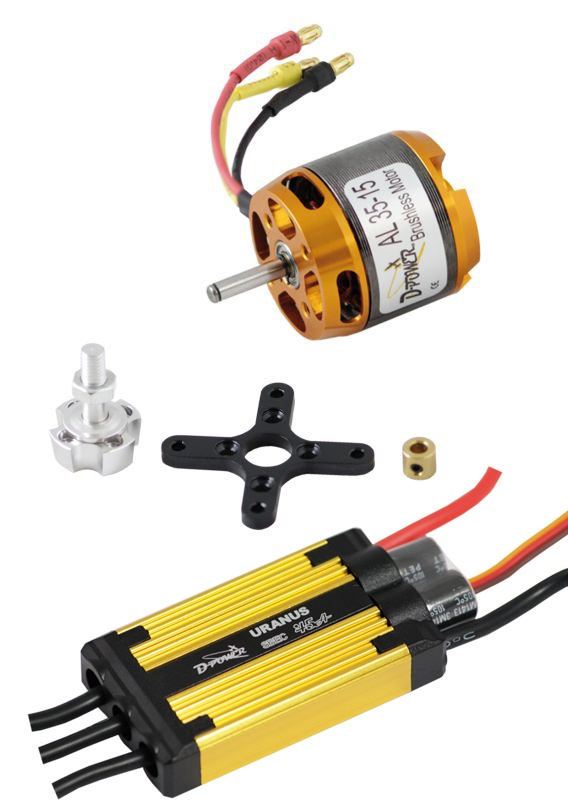 D-Power Brushless Set AL35-15 & 45A URANUS Regler