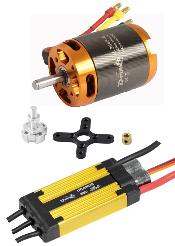 D-Power Brushless Set AL3548-4 & 65A URANUS Regler