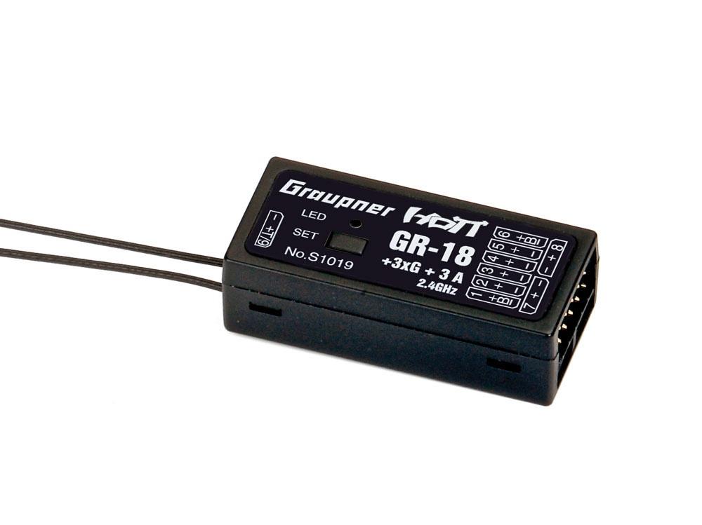 Graupner GR-18 + 3XG + 3A HoTT - 2.4 GHz Empfänger