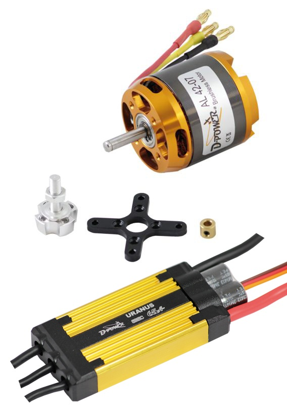 D-Power Brushless Set AL42-07 & 65A URANUS Regler