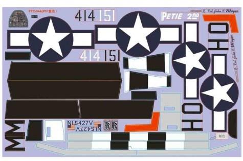FMS P-51D V8 - Dekorbogen