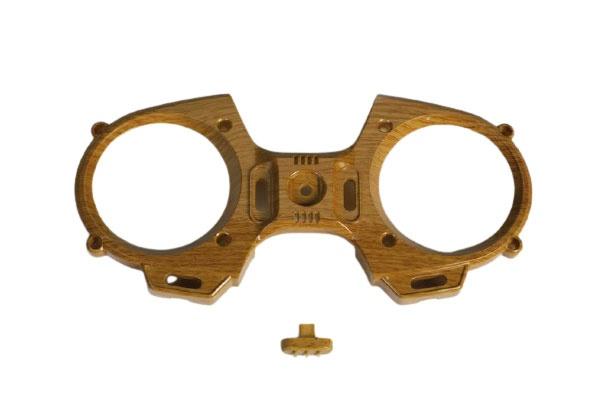 Graupner mz-12 Frontplatte Holzoptik