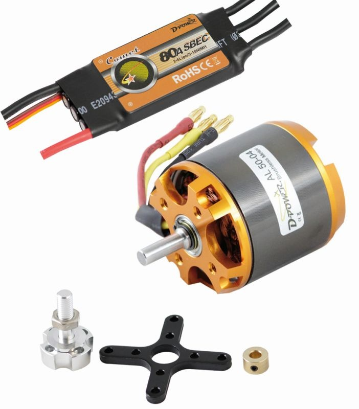D-Power Brushless SET AL50-04 & 80A Comet Regler