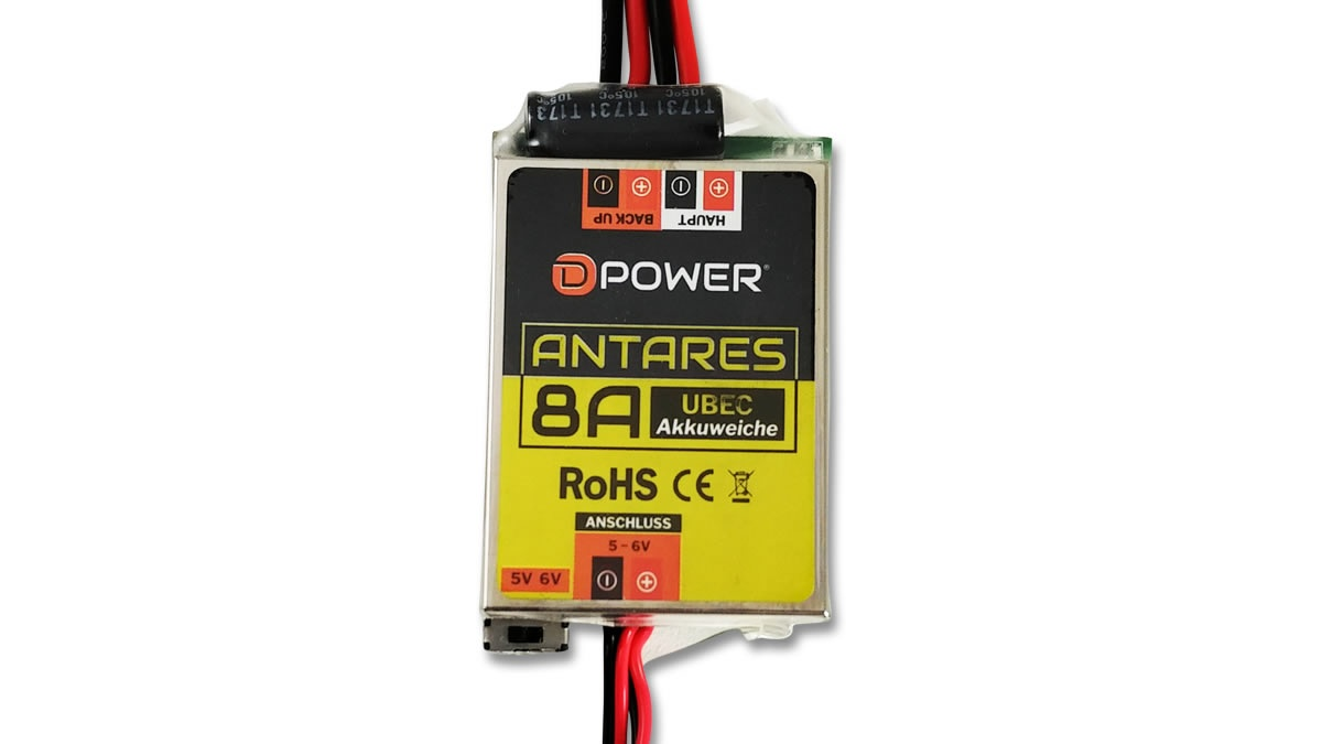 D-Power Antares UBEC 8A Battery Switch