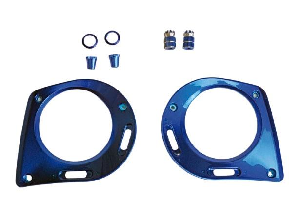 Graupner mz-16 / mz-32 Frontplatte + Steuerknüppel blau