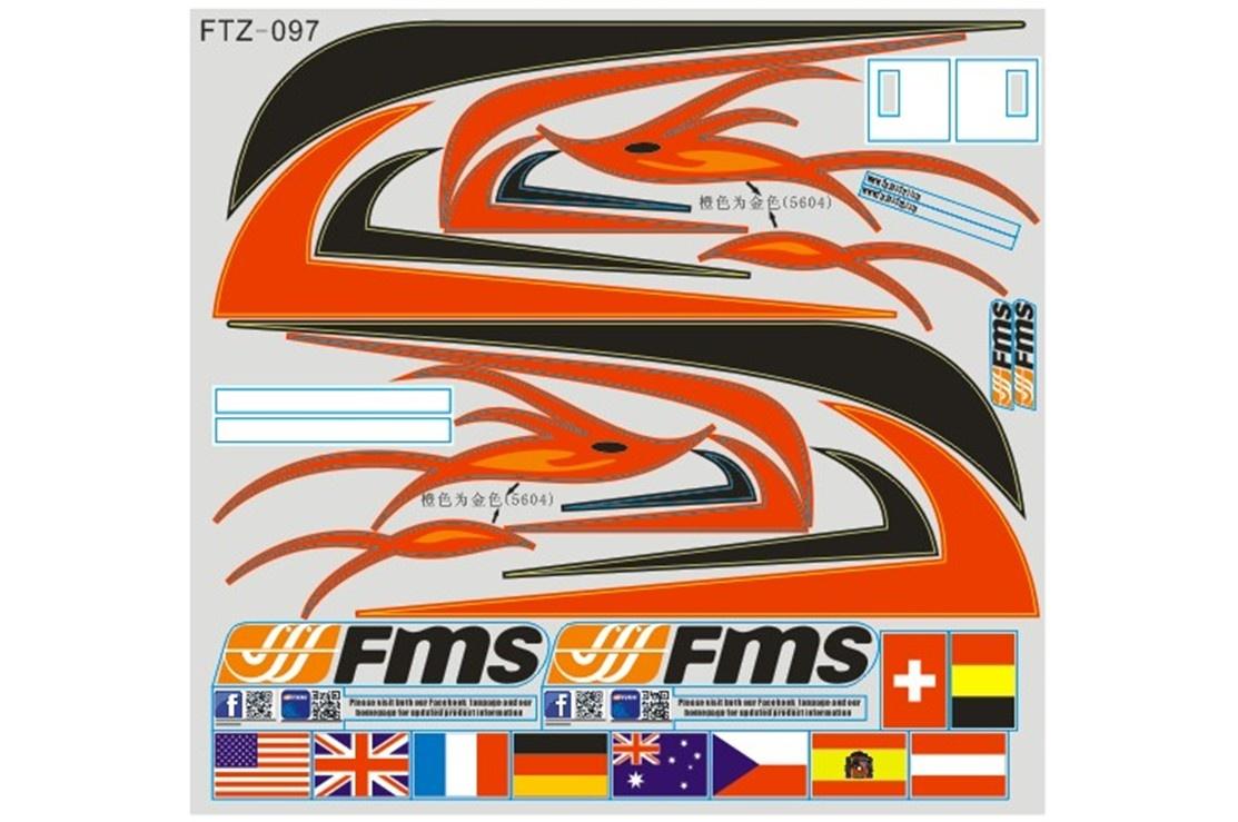 FMS Red Dragonfly - Dekorbogen