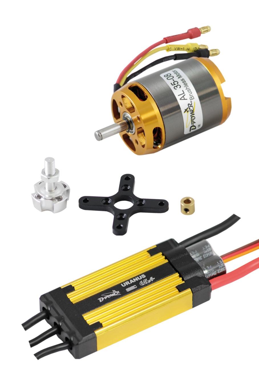 D-Power Brushless Set AL 35-08 & 65A URANUS Regler