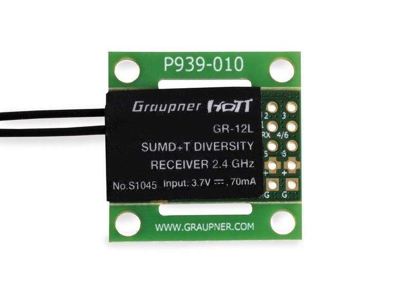 Graupner GR-12L 6 Channel 2.4GHz HoTT Receiver