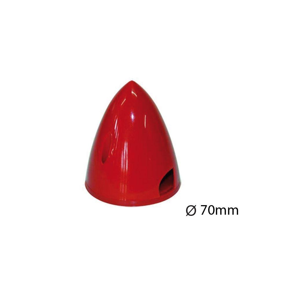 Kunststoff-Spinner Ø 70 mm rot