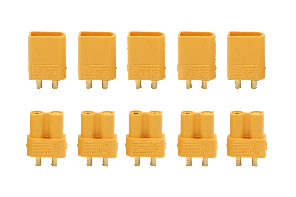 XT 30 Gold contacts yellow - 5 pairs