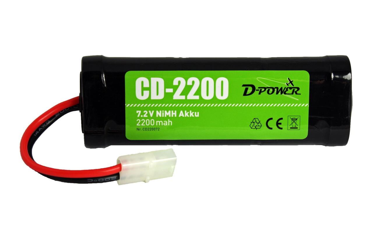 D-Power CD-2200 7.2V NiMH Akku mit Tamiya-Stecker