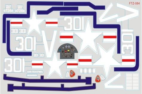 FMS F4U Corsair - Dekorbogen