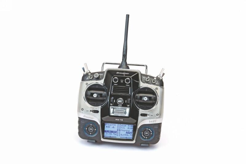 Graupner MX-16 + GR-16 HoTT 2.4GHz Fernsteuerung DE