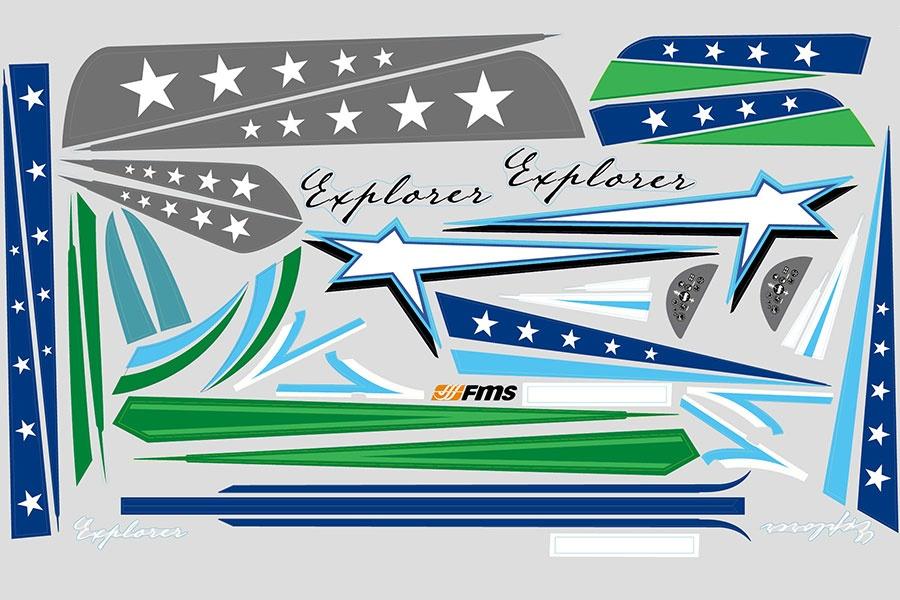 FMS F3A Explorer - Dekorbogen